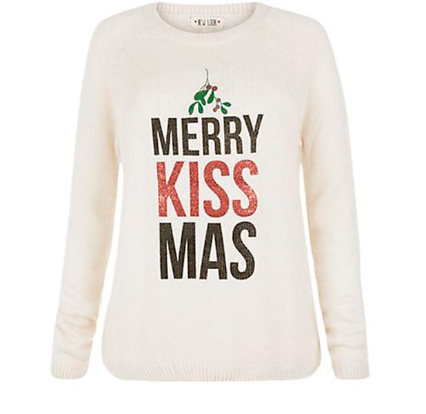 New Look Merry Kissmas Jumper