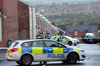 Police at the scene on Rawling Road in Bensham