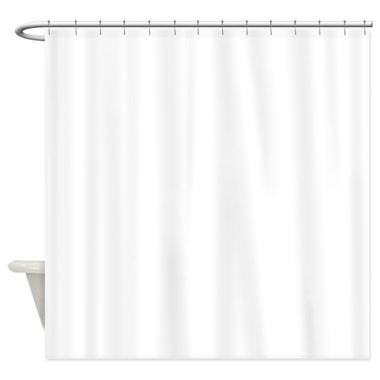 elegant monogram in navy and white shower curtain