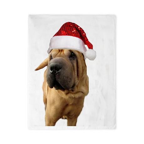 Christmas Shar Pei Dog Twin Duvet By AdminCP6582520
