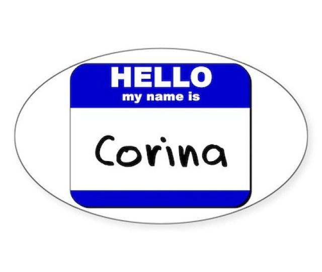 Th Street Latinas Cindi Toys Hello My Name Is Corina Oval Sticker