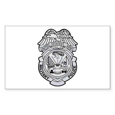 military police badge rectangle decalhooahjoes