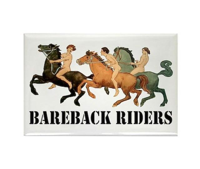 Bareback Riders Rectangle Magnet