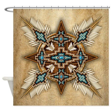 Native American Style Mandala 26 Shower Curtain By Naumaddicarts