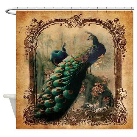 Romantic Paris Vintage Peacock Shower Curtain By Listing Store 62325139