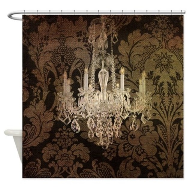 Steampunk Damask Vintage Chandelier Shower Curtain By Listing 62325139
