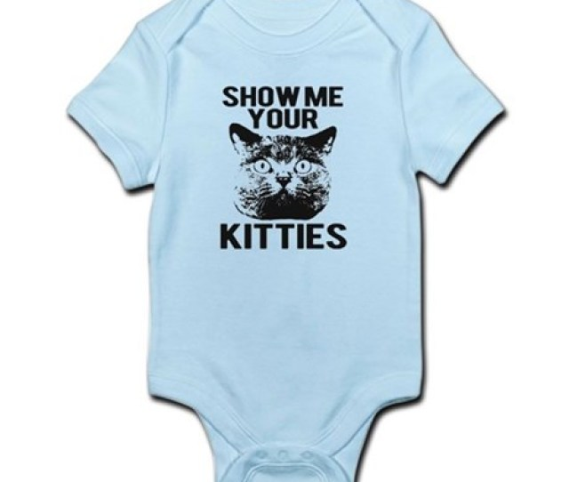 Show Me Your Kitties Funny Cat Head Tee Infant Bod