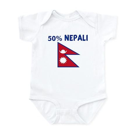 50 PERCENT NEPALI Infant Bodysuit Baby Light Bodysuit