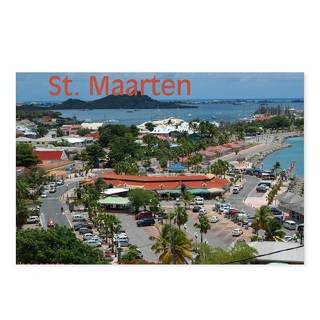 St. Maarten-Downtown by Khoncepts Package of  Postcards