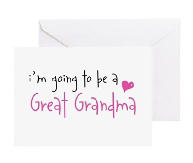 Im Going To Be A Great Grandma Greeting Cards Pa