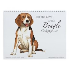 Beagle Dog Wall Calendar