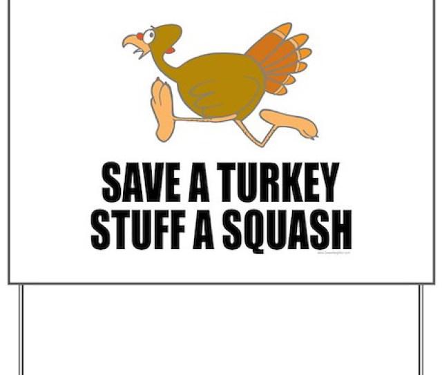 Vegetarian Thanksgiving Yard Sign