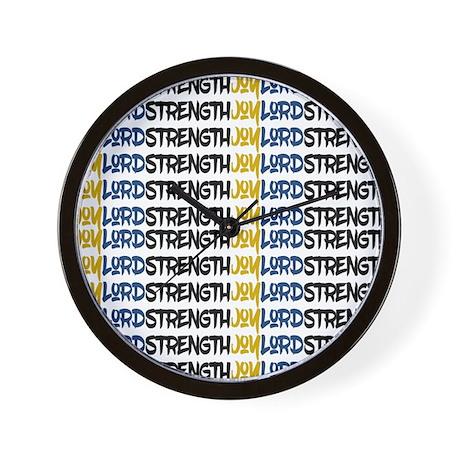 JOY, LORD, STRENGTH WALL CLOCK