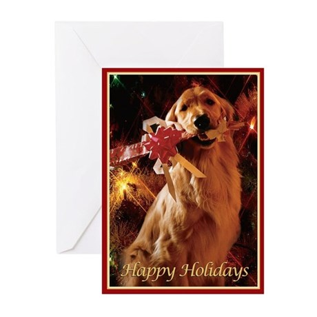 Golden Retriever Happy Holidays Cards Pk Of 10 By