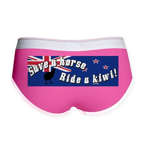 Save a Horse Ride a Kiwi Women's Boy Brief