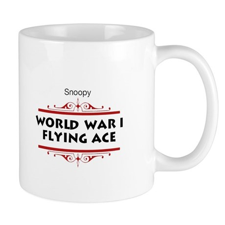 Flying Ace Dodging Bullets Mug By Snoopystore