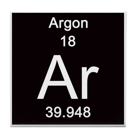 Periodic Table Argon Tile Coaster By Science Lady