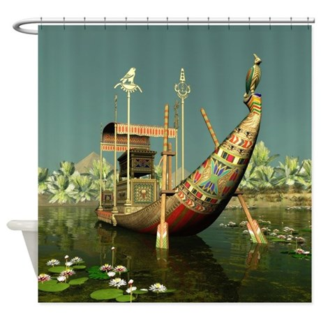 Ancient Egyptian Barge Shower Curtain By Showercurtainshop