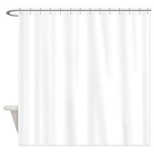 White Poodle Bath Shower Curtains