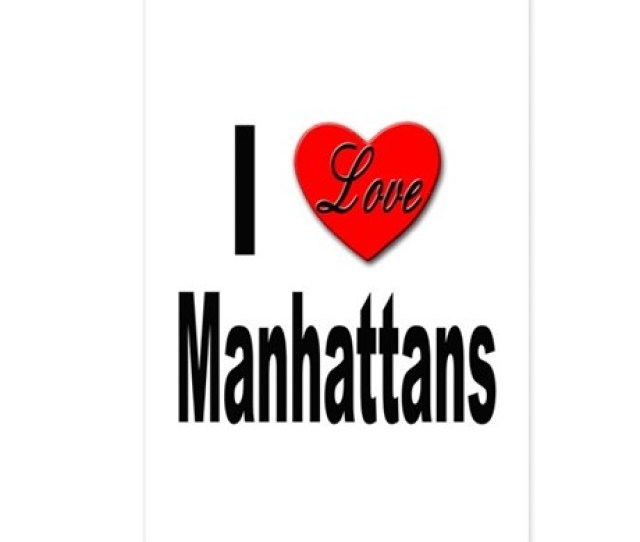 I Love Manhattans Postcards Package Of