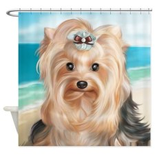 ByCatiaCho Yorkie LuLoo Shower Curtain