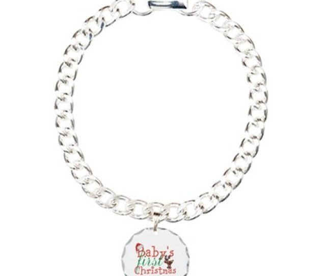 Babys First Christmas Charm Bracelet One Charm