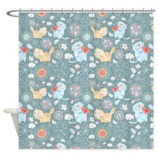 Funky Cats Pattern Shower Curtain