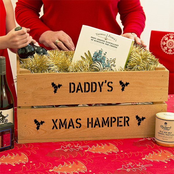 personalised hamper crates
