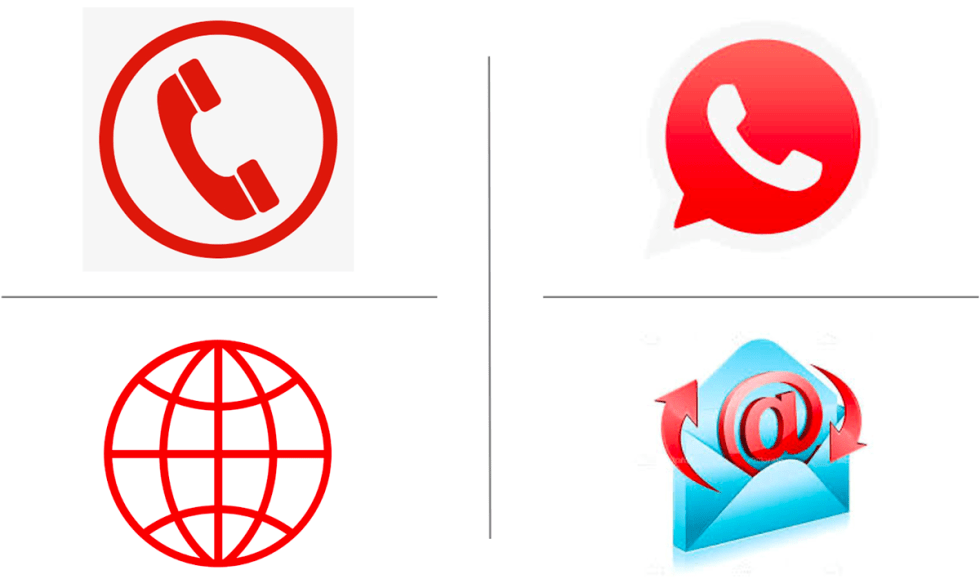 communication symbols, email, phone