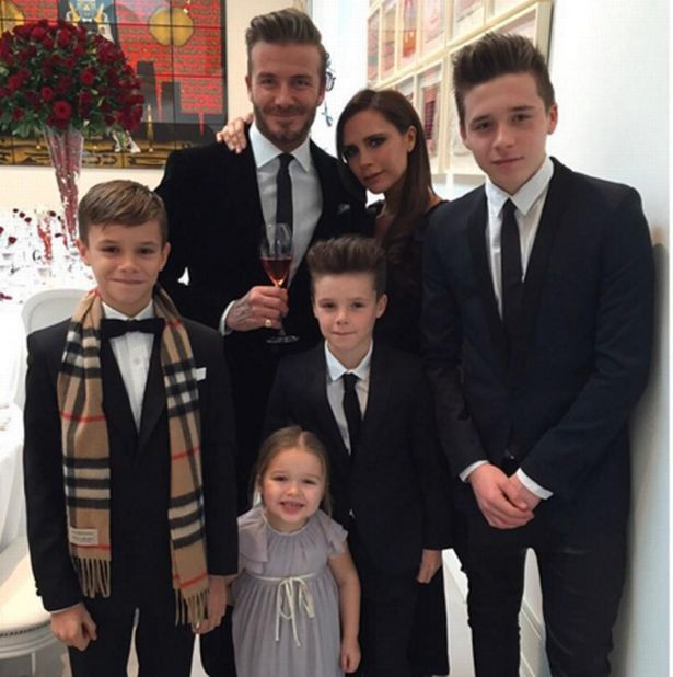 Beckham family posted by Victoria Beckham