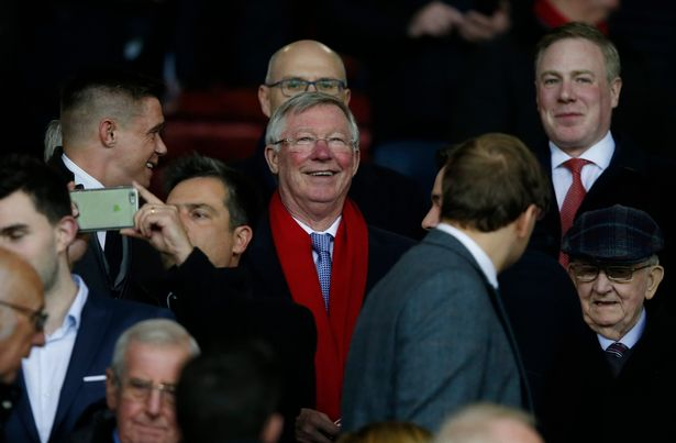 Sir Alex Ferguson in the stands