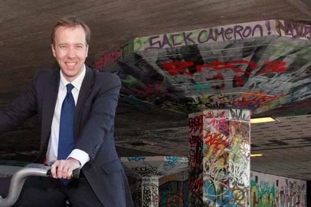 Matthew Hancock total politics sack cameron graffiti