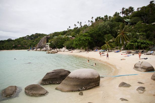 Freedom Beach on the island of Koh Tao, which is now being dubbed 'murder island'