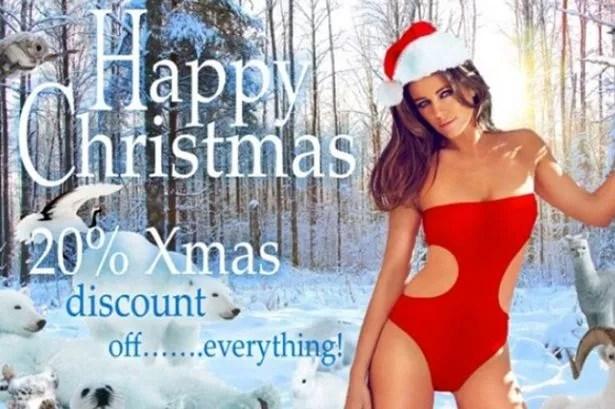 Elizabeth Hurley Sends VERY Sexy Christmas Cards As She