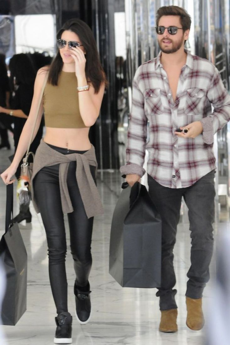 Kendall Jenner and Scott Disick hit the shops in Beverly Hills