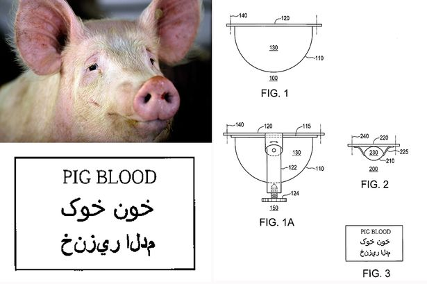Inventor tried to patent controversial anti-terror device which sprays Muslims with pigs blood