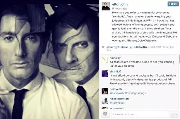 Elton John instagram