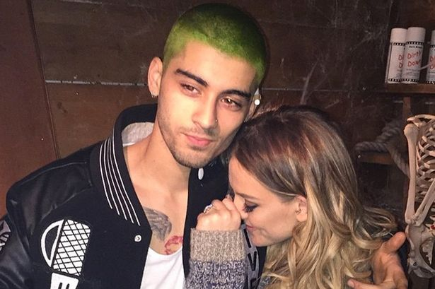 Perrie shares pic of Zayn's new green hair