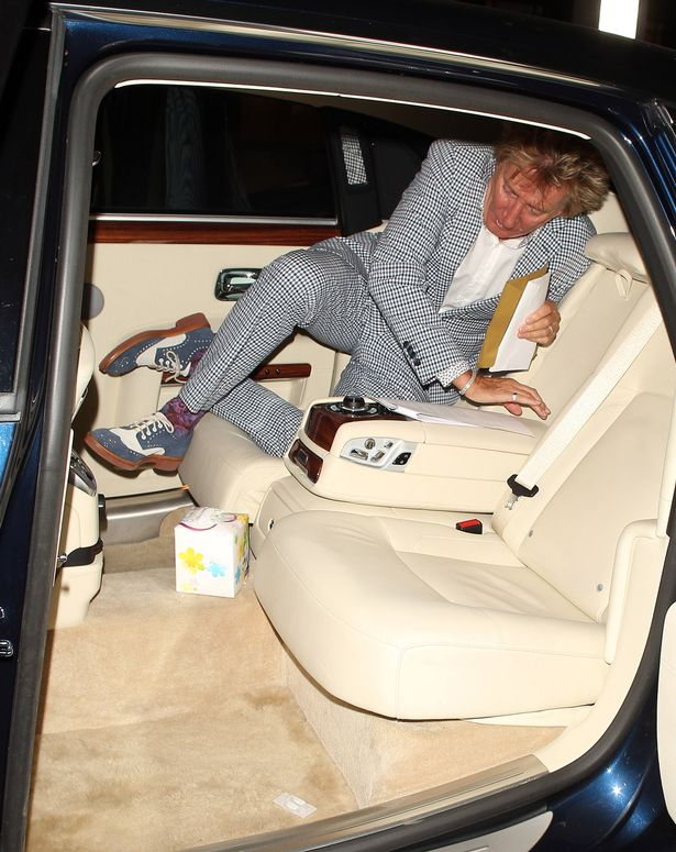 Rod Stewart at C London restaurant on July 1, 2015 in London, England