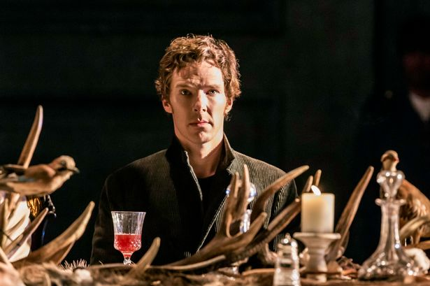 Cumberbatch appearing in Hamlet at the Barbican in London