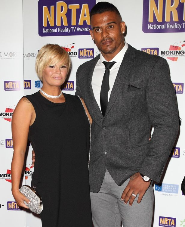 Kerry Katona and George Kay at the Reality TV awards on September 30, 2015 in London, England