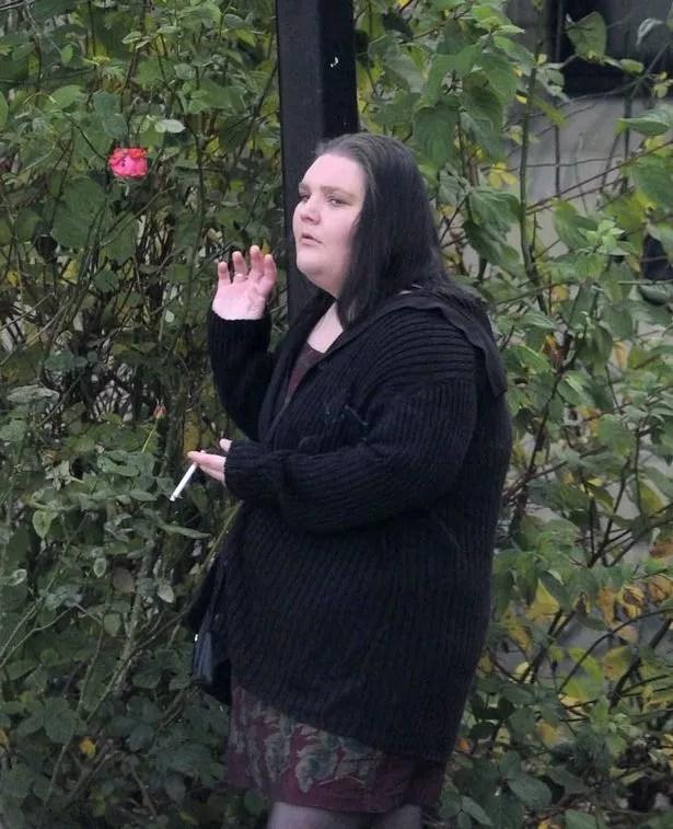 Emma-Louise Evans outside Burnley Crown Court