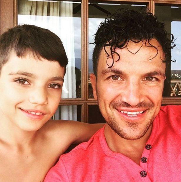 Peter Andre and son, Junior