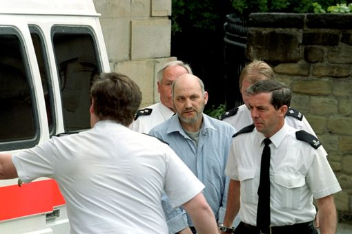 Robert Black after being found guilty at Newcastle Crown Court on ten charges