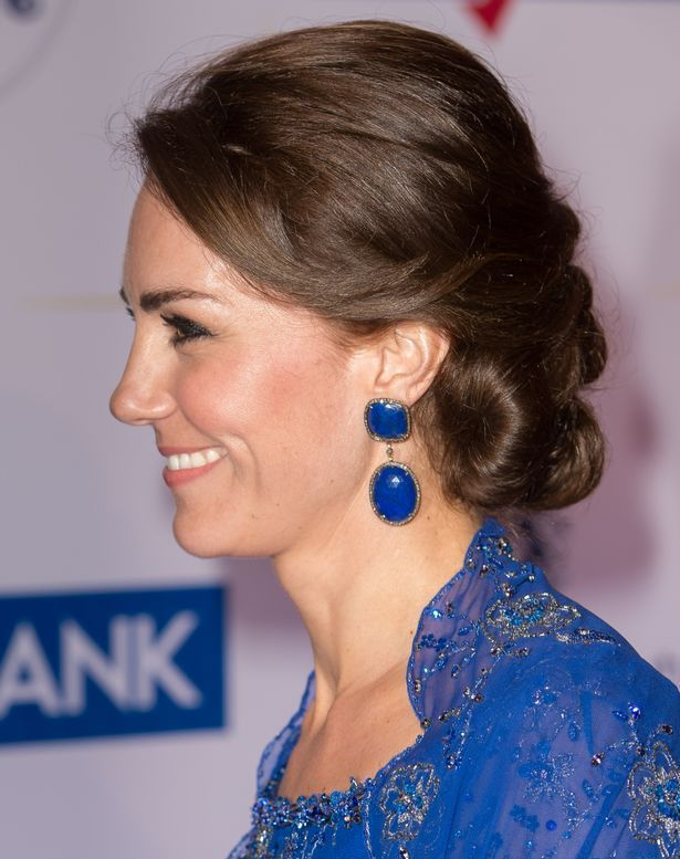 Kate Middleton wore her hair up in an elegant style for the Bollywood gala