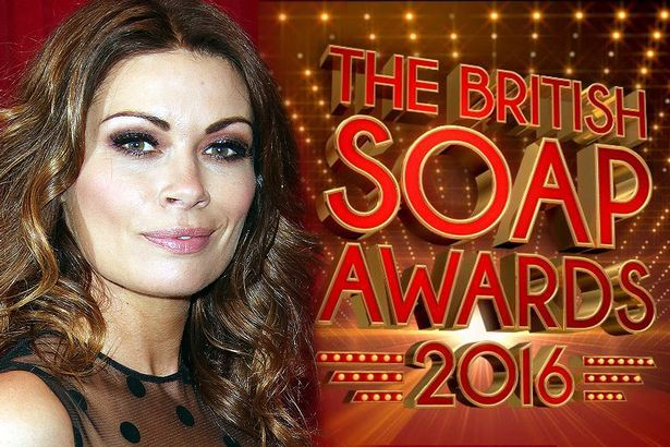 Alison King British Soap Awards 2016