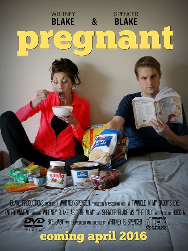 Spencer and Whitney Blake shared a series of pictures to announce whether they were pregnant or not on their blog which they started after several years of infertility. Pictured - Spencer and Whitney announcing the pregnancy