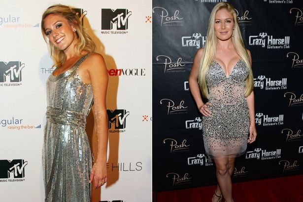 Heidi Montag 2006 and 2013