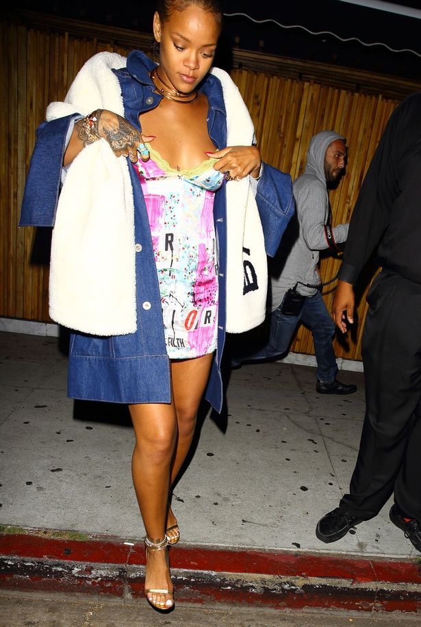 Rihanna leaves The Nice Guy club in West Hollywood, California