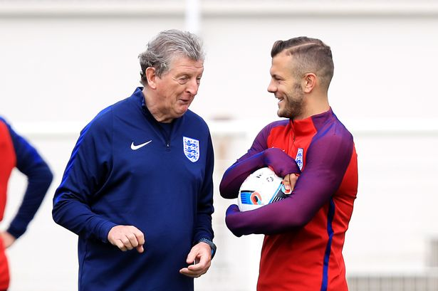 Image result for jack wilshere and roy hodgson